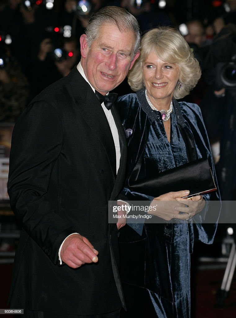 HRH Prince Charles, The Prince of Wales and HRH Camilla Duchess of Cornwall attend the Charity Royal Film Performance of 'The Lovely Bones' at the Odeon Cinema Leicester Square on November 24, 2009 in London, England.