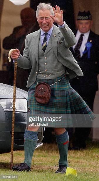 Prince Charles the Prince of Wales attends the Mey Highland Games at Queens Park on August 9 2008 in Caithness Scotland HRH The Prince of Wales is...