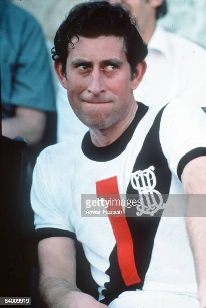 Prince Charles the Prince of Wales relaxes at a polo match during a royal visit in Brazil in 1978