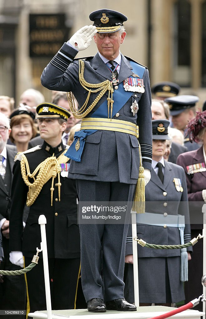 <a gi-track='captionPersonalityLinkClicked' href=/galleries/search?phrase=Prince+Charles&family=editorial&specificpeople=160180 ng-click='$event.stopPropagation()'>Prince Charles</a>, The Prince of Wales takes the salute during the parade and flypast as he attends the Battle of Britain 70th Anniversary Service at Westminster Abbey on September 19, 2010 in London, England.