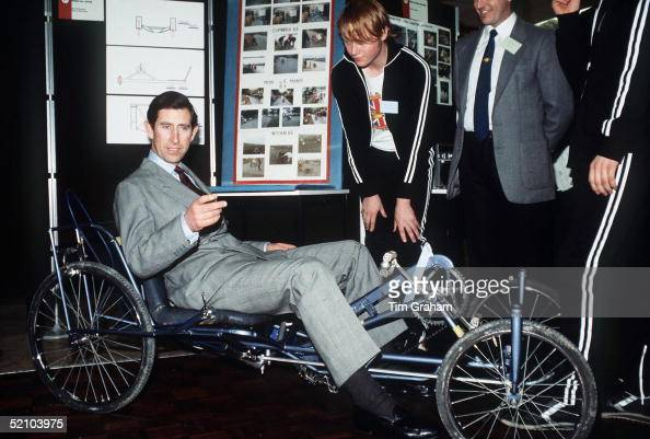 Prince Charles Visiting A Community Centre In Manchester For The Prince's Trust Project And Trying Out A Special Type Of Bicycle
