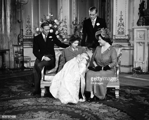 Prince Charles was christened Charles Philip Arthur George in a ceremony at Buckingham Palace Looking on are King George VI Princess Elizabeth The...
