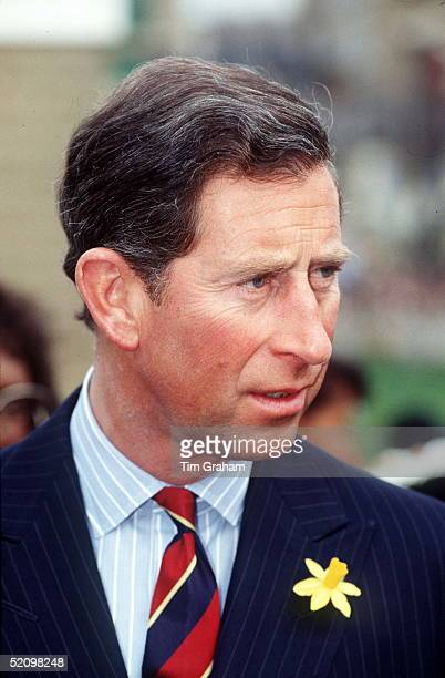 Prince Charles Wearing A Daffodil In His Buttonhole For St Davids Day On 1st March In Cardiff