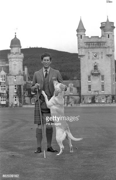 Prince Charles who celebrates his 30th birthday today in a relaxed mood during a visit to Balmoral Castle in Scotland