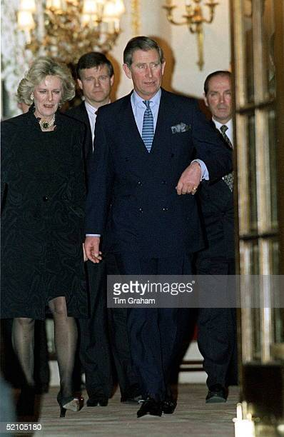 Prince Charles With Camilla Parkerbowles Leaving The Ritz Hotel In London After A Birthday Party For Her Sister Annabel