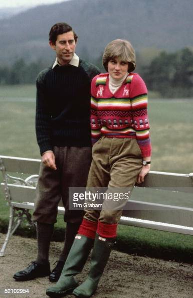 Prince Charles With His Fiance Lady Diana Spencer During A Photocall Before Their Wedding While Staying At Craigowan Lodge On The Balmoral Estate
