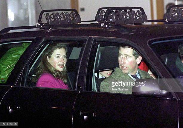 Prince Charles With His Sons And Their Nanny Tiggy Leggebourke At Zurich Airport At Start Of Skiing Holiday In Switzerland On New Years Day 1st...