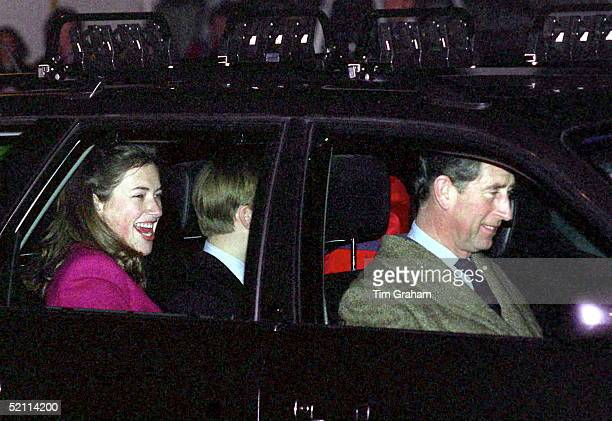 Prince Charles With His Sons And Tiggy Leggebourke At Zurich Airport At Start Of Skiing Holiday In Switzerland On New Years Day 1st January