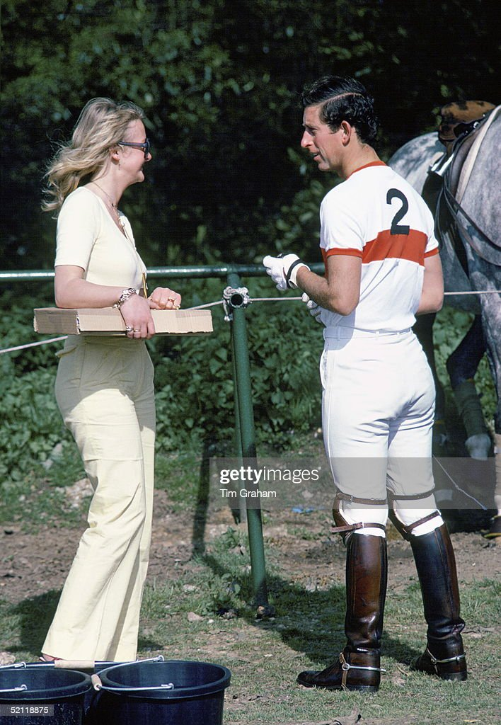 Prince Charles With Jane Ward After Polo At Windsor