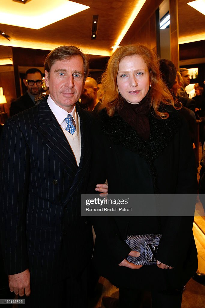 Prince Charles-Henri de Lobkowicz and Moly attend Berluti Flagship Store Opening on November 26, 2013 in Paris, France.