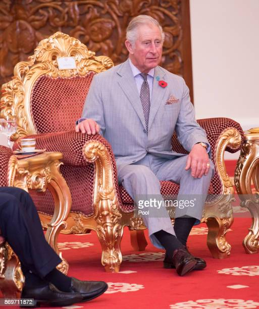 Prince CharlesThe Prince of Wales talks with His Majesty The Yang diPertuan Agong XV Sultan Muhammad V at his official residence Istana Negara on...
