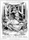 'Prince Charming and the Sleeping Beauty' 1912 Prince Charming representing Sir Edward Grey British Foreign Secretary 19051916 prepares to wake the...