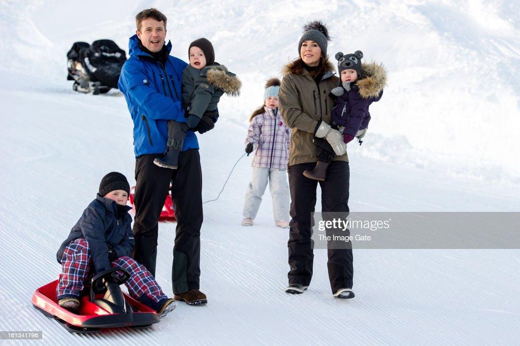 Danish Royals On Ski Holiday In Verbier