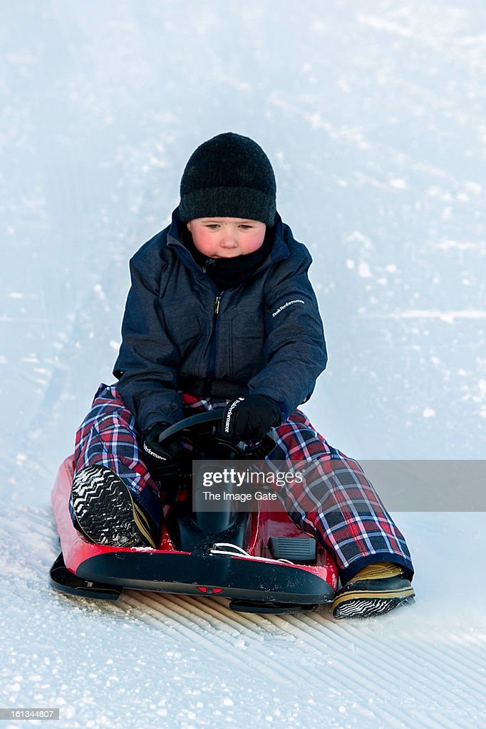 Prince Christian of Denmark meets the press, whilst on skiing holiday on February 10, 2013 in Verbier, Switzerland.