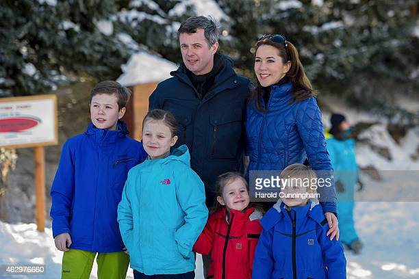 Prince Christian of Denmark Princess Isabella of Denmark Crown Prince Frederik of Denmark Princess Josephine of Denmark Princess Mary of Denmark and...