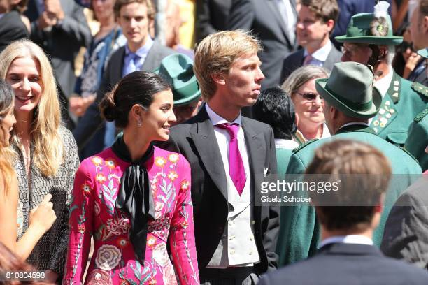 Prince Christian of Hanover and his fiancee Alessadra de Osma during the wedding of Prince Ernst August of Hanover jr Duke of BrunswickLueneburg and...