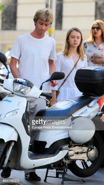 Prince Christian of Hanover and his sister Princess Alexandra of Hanover are seen on May 25 2017 in Madrid Spain