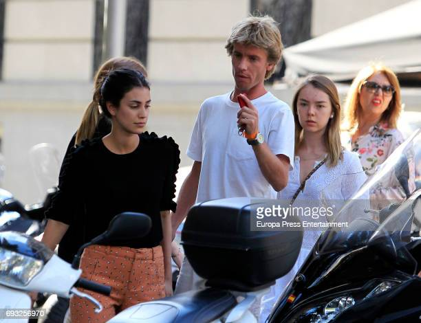 Prince Christian of Hanover his girlfriend Alessandra de Osma and his sister Princess Alexandra of Hanover are seen on May 25 2017 in Madrid Spain