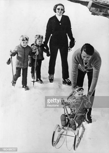 Prince Claus of the Netherlands with Queen Beatrix and their sons WillemAlexander Prince of Orange Prince Friso and Prince Constantijn during a...