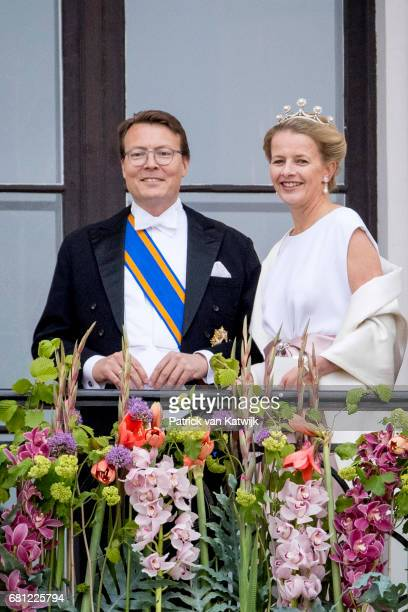 Prince Constantijn and Princess Mabel of The Netherlands attend the official Gala dinner at the Royal Palace on May 9 2017 in Oslo Norway King Harald...