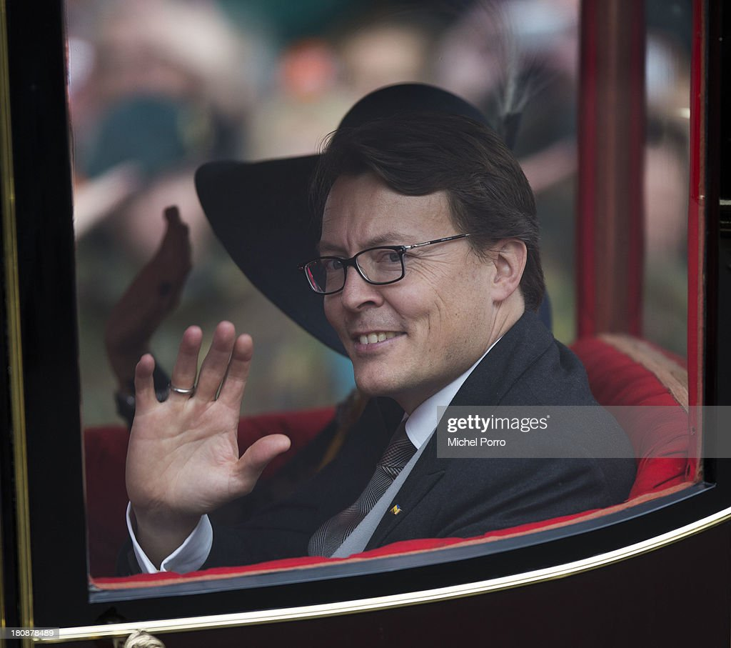 Prince Constantijn of The Netherlands waves during celebrations for Prinsjesdag (Prince's Day) on September 17, 2013 in The Hague, Netherlands.