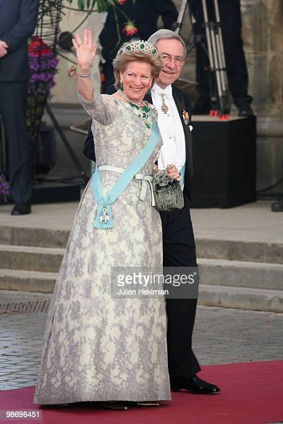 Prince Constantine and his wife Princess AnneMarie attend the Gala Performance in celebration of Queen Margrethe's 70th Birthday on April 15 2010 in...