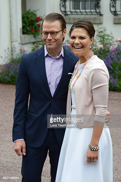 Prince Daniel Duke of Vastergotland and Crown Princess Victoria of Sweden attend the Victoria Day celebrations on the Crown Princess's 37th Birthday...