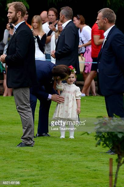 Prince Daniel Duke of Vastergotland and Princess Estelle of Sweden attend the Victoria Day celebrations on the Crown Princess's 37th Birthday at...