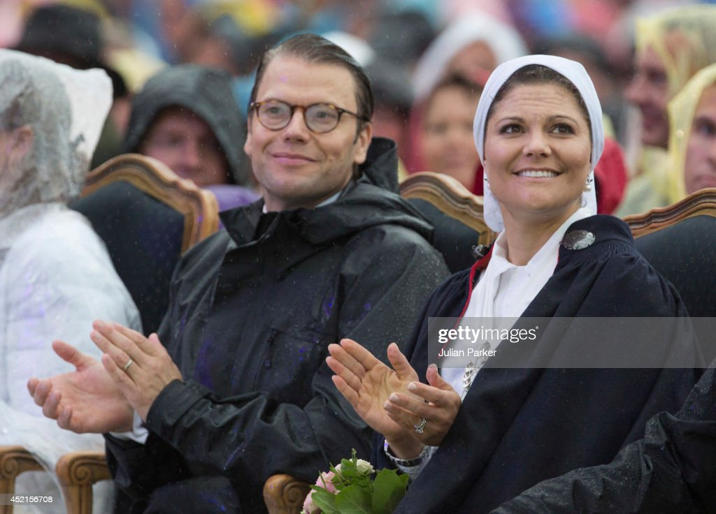 Prince Daniel of Sweden and Crown Princess Victoria of Sweden attend a concert in Borgholm, to celebrate the 37th Birthday of Crown Princess Victoria of Sweden on July 14, 2014 in Oland, Sweden.