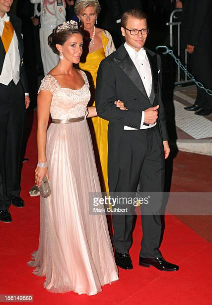 Prince Daniel Of Sweden And Princess Marie Of Denmark Arriving For The Official Dinner For Prince Albert Ii Of Monaco And Charlene Wittstock At The...