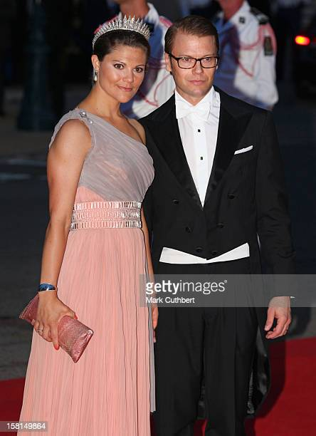 Prince Daniel Of Sweden And Princess Victoria Of Sweden Arriving For The Official Dinner For Prince Albert Ii Of Monaco And Charlene Wittstock At The...