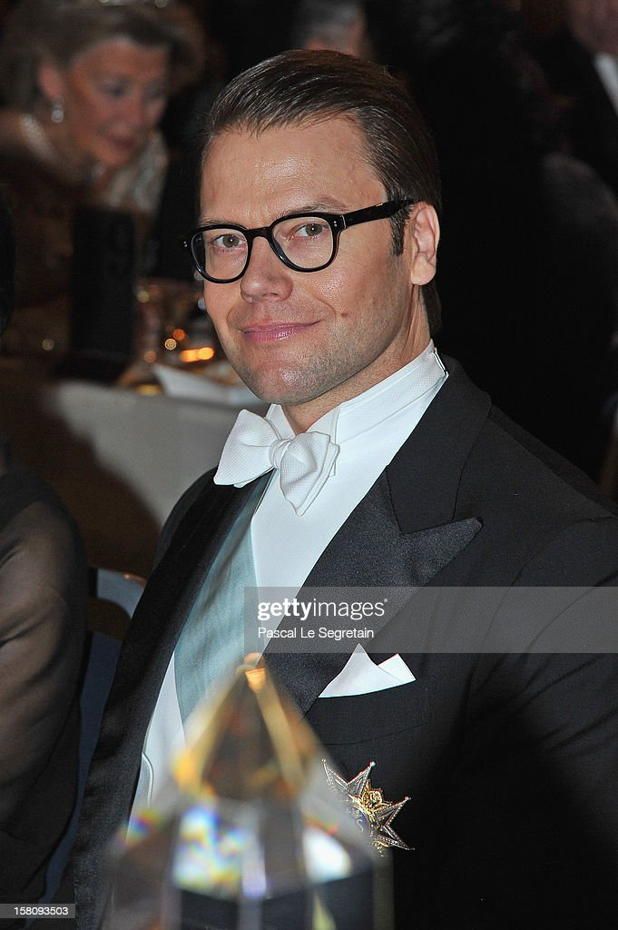 Prince Daniel of Sweden attends the Nobel Banquet after the 2012 Nobel Peace Prize Ceremony at Town Hall on December 10, 2012 in Stockholm, Sweden.