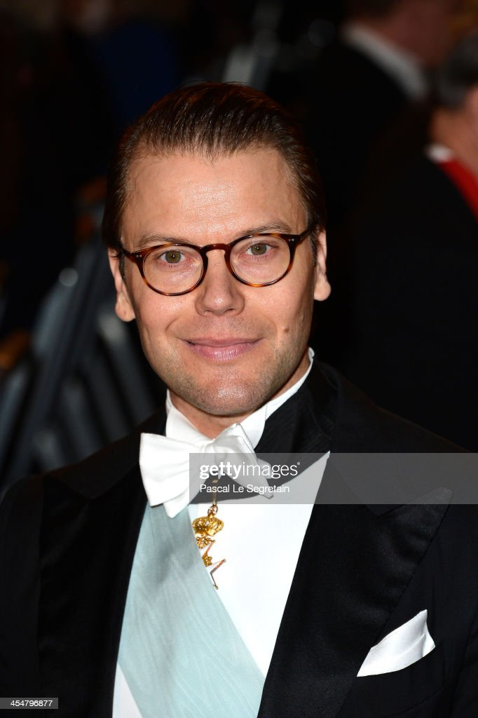 Prince Daniel of Sweden attends the Nobel Prize Banquet after the 2013 Nobel Prize Awards Ceremony at City Hall on December 10, 2013 in Stockholm, Sweden.