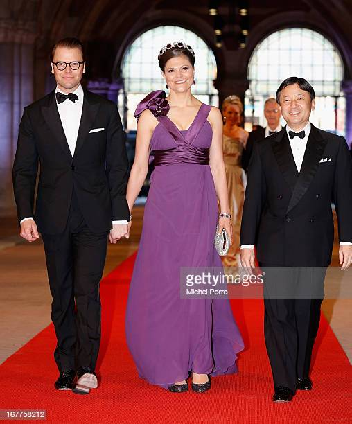 Prince Daniel of Sweden Crown Princess Victoria of Sweden and Crown Prince Naruhito of Japan attend a dinner hosted by Queen Beatrix of The...