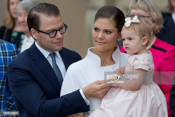 Prince Daniel of Sweden Crown Princess Victoria of Sweden and Princess Estelle of Sweden attend the city of Stockholm's celebrations for King Carl...