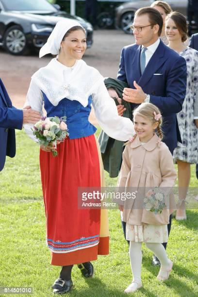 Prince Daniel of Sweden Princess Estelle of Sweden and Crown Princess Victoria of Sweden attend the celebrations of Crown Princess Victoria of...