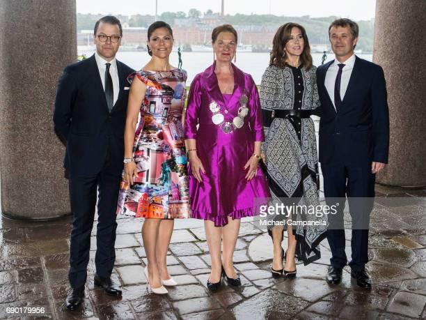 Prince Daniel of Sweden Princess Victoria of Sweden EvaLouise Erlandsson Slorach Prince Frederik of Denmark and Princess Mary of Denmark arrive...