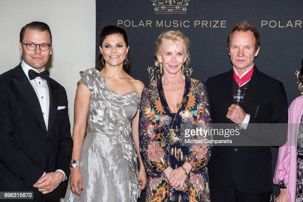 Prince Daniel of Sweden Princess Victoria of Sweden Trudie Styler and Sting attend a formal dinner after the award ceremony for the Polar Music Prize...