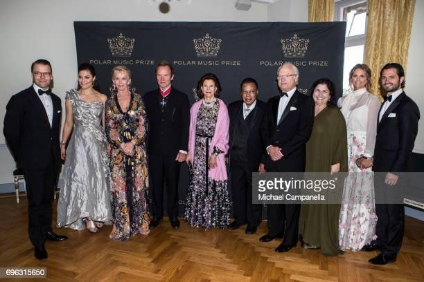 Prince Daniel of Sweden Princess Victoria of Sweden Trudie Styler Sting Queen Silvia of Sweden Wayne Shorter King Carl XVI Gustaf of Sweden Carolina...