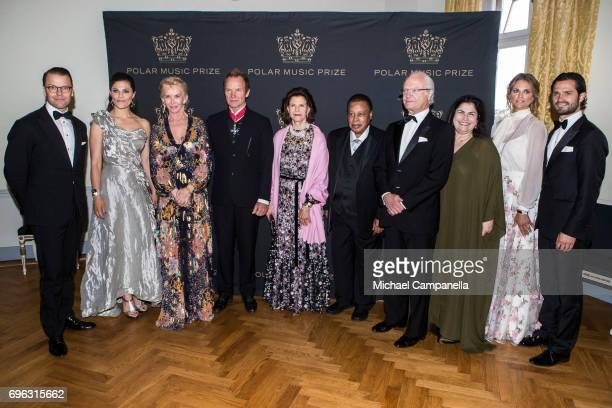 Prince Daniel of Sweden Princess Victoria of Sweden Trudie Styler Sting Queen Silvia of Sweden Wayne Shorter King Carl XVI Gustaf of Sweden Carolina...