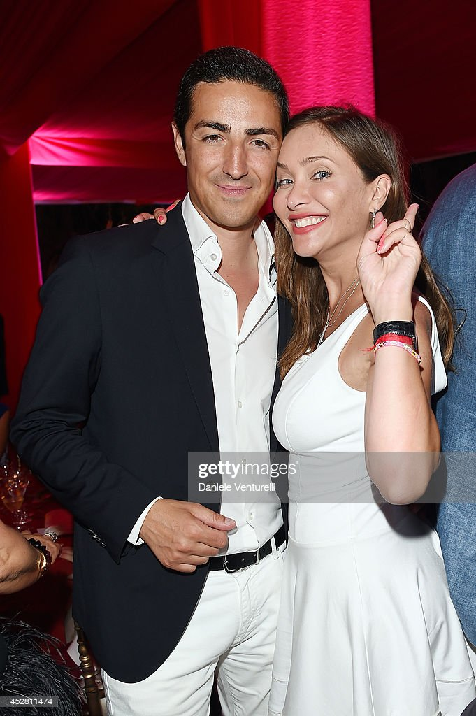 Prince Edouard de Ligne de la Tremoille and Isabella Orsini, attend Monika Bacardi Summer Party 2014 St Tropez at Les Moulins de Ramatuelle on July 27, 2014 in Saint-Tropez, France.