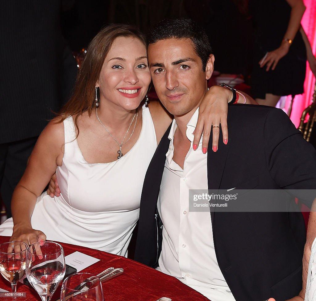 Prince Edouard de Ligne de la Tremoille and Isabella Orsini, attend Monika Bacardi Summer Party 2014 St Tropez at Les Moulins de Ramatuelle on July 27, 2014 in Saint-Tropez, France.