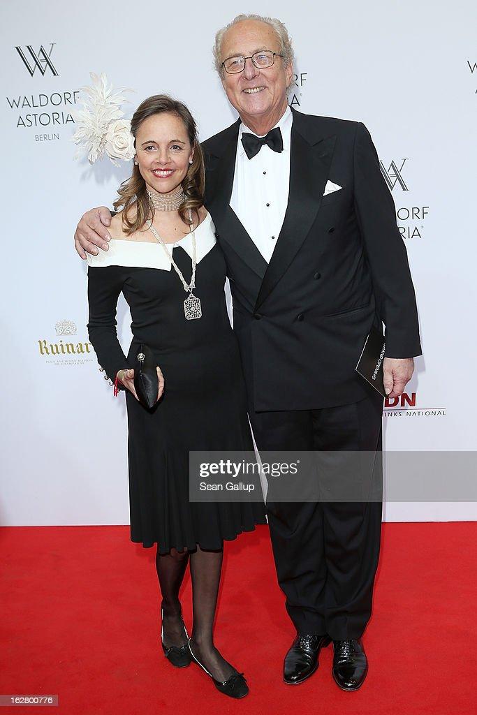 Prince Eduard von Anhalt and Princess Corinna von Anhalt attend 'Waldorf Astoria Berlin Grand Opening' at Waldorf Astoria Berlin on February 27, 2013 in Berlin, Germany.