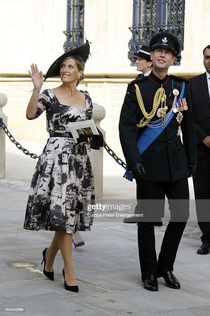 Prince Edward and Countess Sophie of Wessex during the wedding ceremony of Prince Guillaume Of Luxembourg and Countess Stephanie de Lannoy at the Cathedral of our Lady of Luxembourg on October 20, 2012 in Luxembourg, Luxembourg. The 30-year-old hereditary Grand Duke of Luxembourg is the last hereditary Prince in Europe to get married, marrying his 28-year old Belgian Countess bride in a lavish 2-day ceremony.