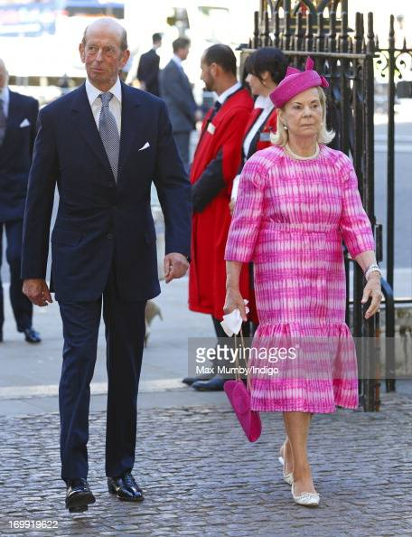 Prince Edward Duke of Kent and Katharine Duchess of Kent attend a service of celebration to mark the 60th anniversary of the Coronation of Queen...