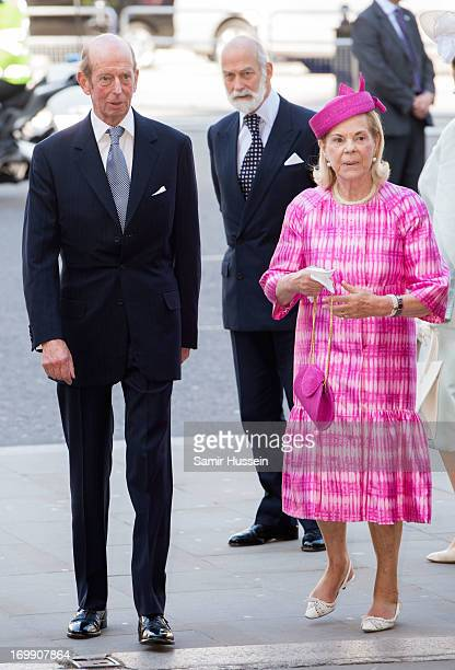 Prince Edward Duke of Kent and Katharine Duchess of Kent attend a service to mark the 60th anniversary of the Queen's Coronation at Westminster Abbey...