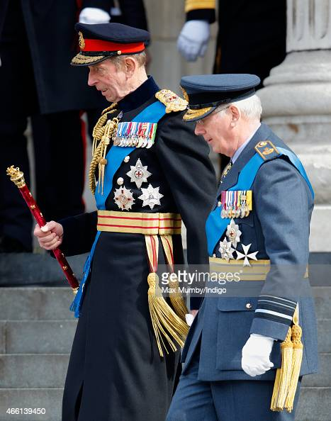 Prince Edward Duke of Kent and Prince Richard Duke of Gloucester attend a Service of Commemoration to mark the end of combat operations in...