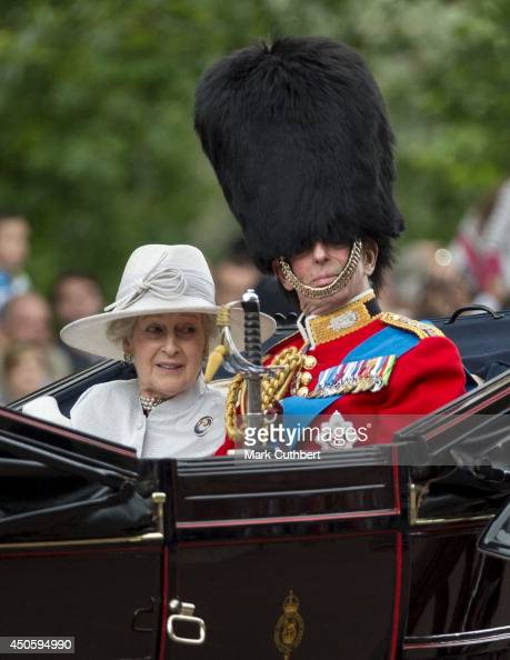 Prince Edward Duke of Kent and Princess Alexandra travel by carriage during Trooping the Colour at The Royal Horseguards on June 14 2014 in London...