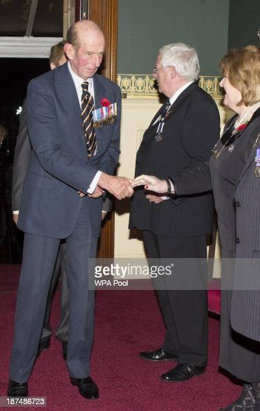 Prince Edward Duke of Kent arriveS for the annual Royal British Legion Festival of Remembrance at the the Royal Albert Hall on November 9 2013 in...