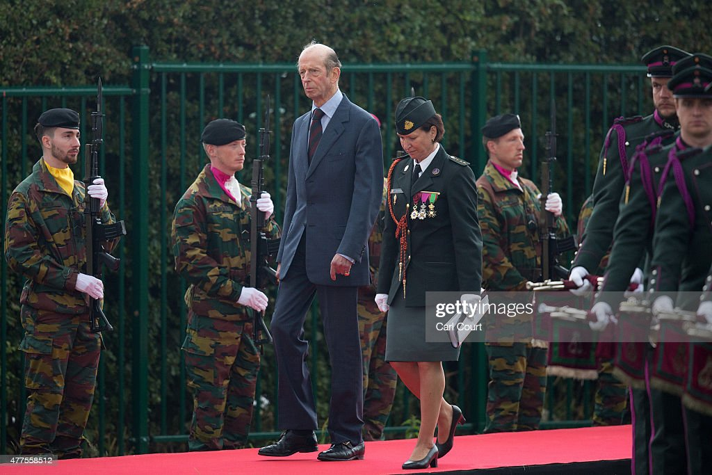 Prince Edward, Duke of Kent arrives to attend the official Belgian federal government ceremony to commemorate the bicentenary of the Battle of Waterloo on June 18, 2015 in Waterloo, Belgium. The ceremony is at the start of three days of official events marking the 200th anniversary of the Battle of Waterloo during which around 5000 historical re-enactors from around the world will take part in events culminating in a re-enactment of the allied defeat of Napoleon's army on June 20th. The 1815 battle saw the overthrow of Napoleon Bonaparte and the restoration of Louis XVIII to the French throne.